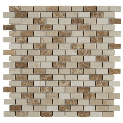 Benson 1 x 1/2 Polished Natural Stone Accent Tile in Adda Blend