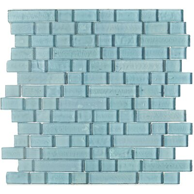Williamsburg Linear 0.75 Random Sized Mosaic Field Tile in Sky Blue