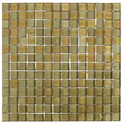 Williamsburg 3/4 x 3/4 Glass Mosaic Tile in Lagoon