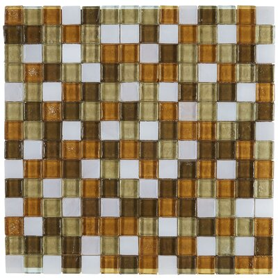 Williamsburg 0.75 x 0.75 Glass Mosaic Tile in Caribbean Blend