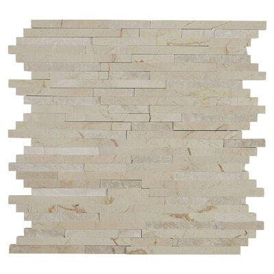 Harrison 3/8 x Random Sized Natural Stone Field Tile in Crema Marfil Classico