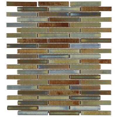 Morrison 0.63 x 3 Glass Mosaic Tile in Lake
