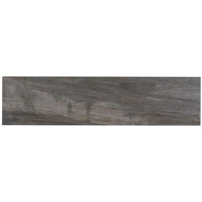 Mansfield Unpolished 6 x 24 Porcelain Field Tile in Smoky River
