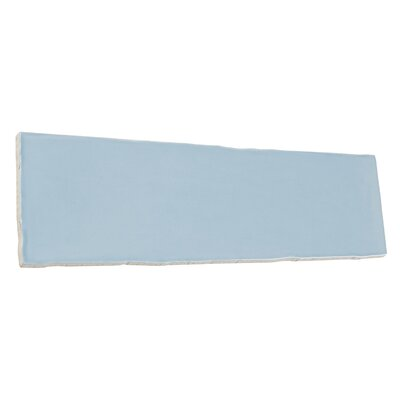 Artigiano 3 x 12 Field Tile in Gloss Stone Blue/Off-White