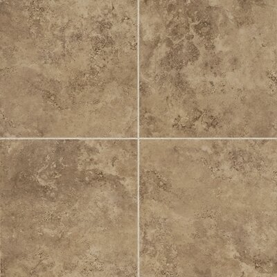 Alessi 13 x 13 Porcelain Field Tile in Noce