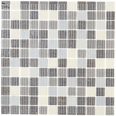 Lexington 1 X 1 Glass Mosaic Tile in Metro Gray