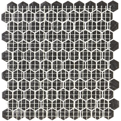 Lexington 1 Hexagon Mosaic Tile in Matte Ebony