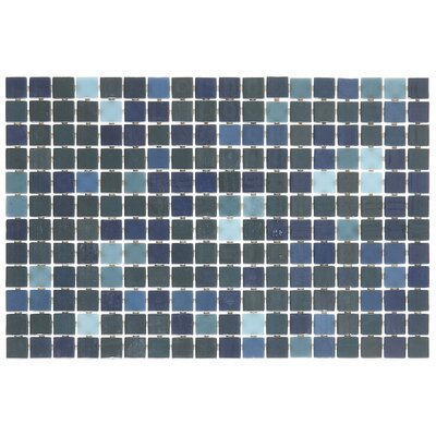 Lexington 1 x 1 Mosaic Tile in Pearl Blue