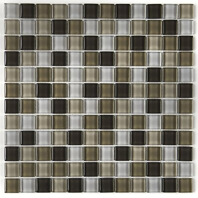 Geneva 1 x 1 Glass Mosaic Field Tile in Soft Cashmere