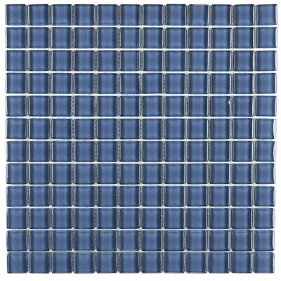Geneva 1 x 1 Glass Mosaic Field Tile in Twilight Blue
