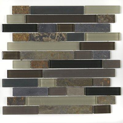 Pelham 1 x Random Sized Natural Stone Mosaic Field Tile in Flint