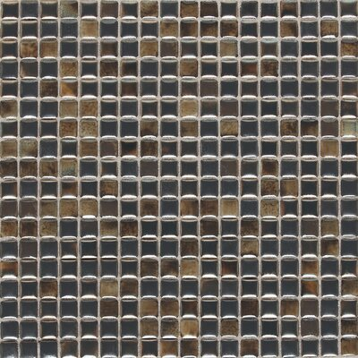 Fashion Accents 0.63 x 0.63 Glass Mosaic Tile in Umber