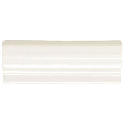 Rittenhouse Square 2 x 2 Decorative Shelf Rail Corner Tile Trim in White