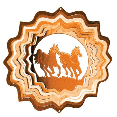 Copper Horses Classic Wind Spinner Size: Small
