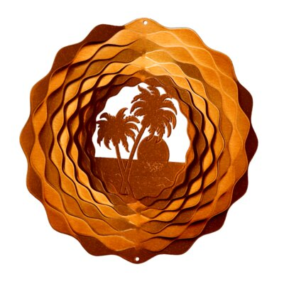Palm Tree Wind Spinner Size: Small, Color: Copper