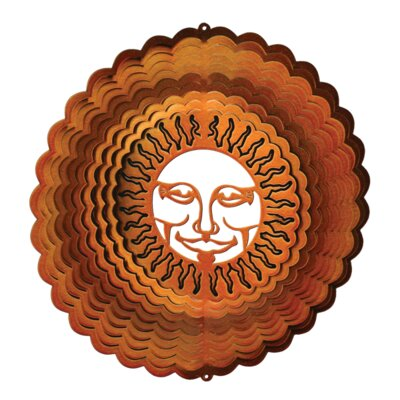 Copper Sunburst Wind Spinner Size: Large