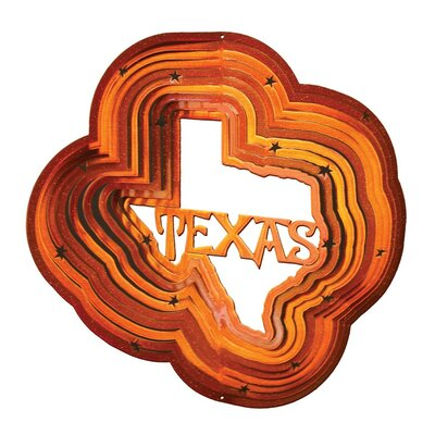 Copper Texas Wind Spinner Size: Small