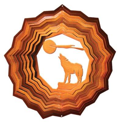 Copper Wolf Wind Spinner