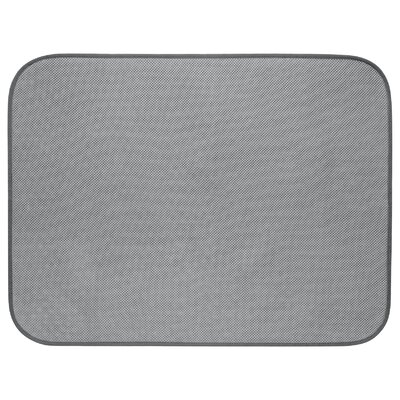 Solid Doormat Mat Size: Rectangle 16 x 2, Color: Pewter