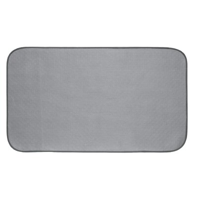 Solid Doormat Mat Size: Rectangle 16 x 27, Color: Pewter