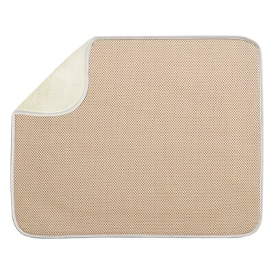 Solid Doormat Mat Size: Rectangle 14 x 16, Color: Wheat / Ivory