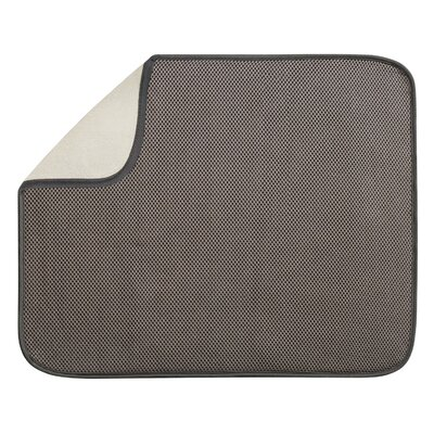 Solid Doormat Mat Size: Rectangle 14 x 16, Color: Mocha / Ivory
