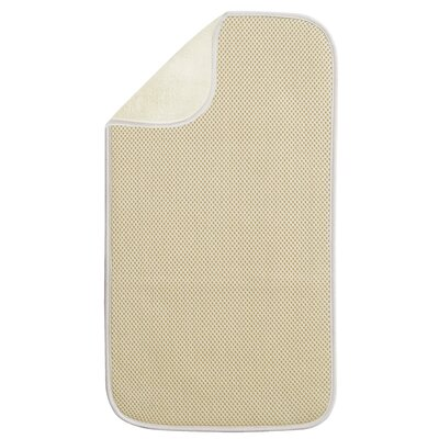 Solid Doormat Rug Size: 9 x 16, Color: Wheat / Ivory