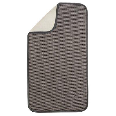 Solid Doormat Rug Size: 9 x 16, Color: Mocha / Ivory