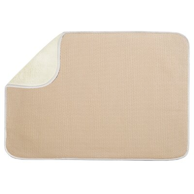 Solid Doormat Mat Size: Rectangle 16 x 2, Color: Wheat / Ivory