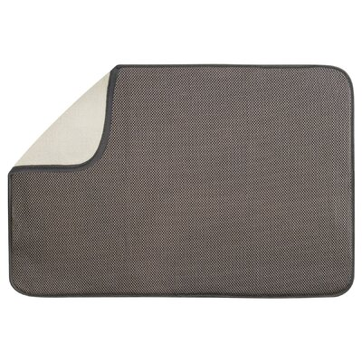 Solid Doormat Mat Size: Rectangle 16 x 2, Color: Mocha / Ivory