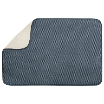 Solid Doormat Mat Size: Rectangle 16 x 2, Color: Pewter / Ivory
