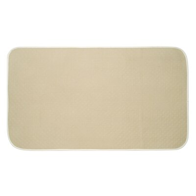 Solid Doormat Mat Size: Rectangle 16 x 27, Color: Wheat