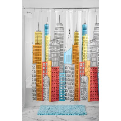 PEVA Cityscapes Waterproof Shower Curtain