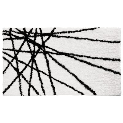 Abstract Black / White Area Rug
