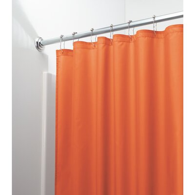 Mildew Free Water Repellent Shower Curtain Color: Orange