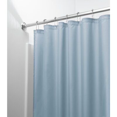 Mildew Free Water Repellent Shower Curtain Color: Slate Blue