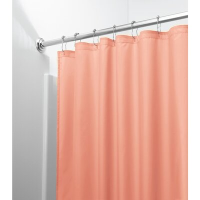 Mildew Free Water Repellent Shower Curtain Color: Coral