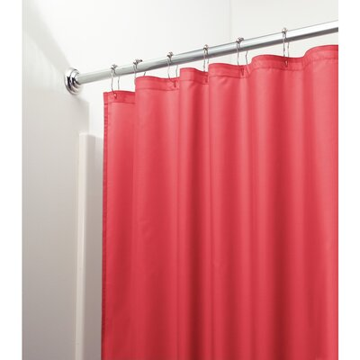 Mildew Free Water Repellent Shower Curtain Color: Red