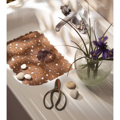 Pebblz Kitchen Sink Protector Mat Finish: Amber