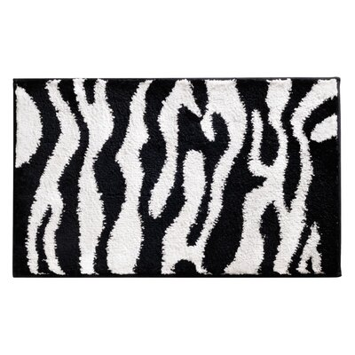 Microfiber Zebra Shower Accent Bath Rug