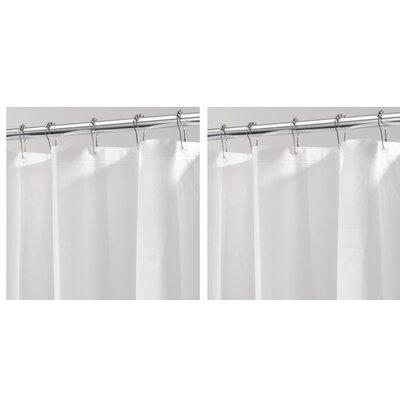 Mildew Free PEVA 3 Gauge Shower Curtain Liner Color: White