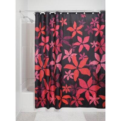 Tessa Shower Curtain Set Color: Black/Pink