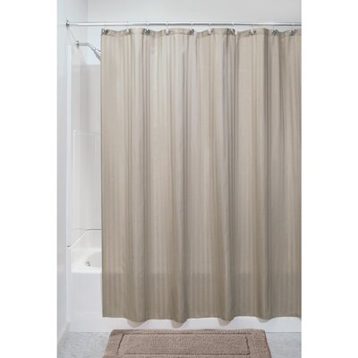 Satin Stripe Shower Curtain Color: Taupe