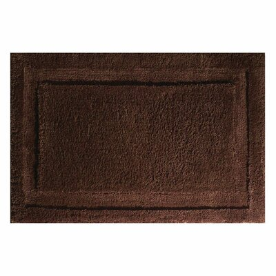 Spa Bath Rug Rug Size: 60 x 21 , Color: Chocolate