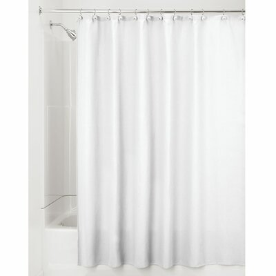 York Shower Curtain Color: White