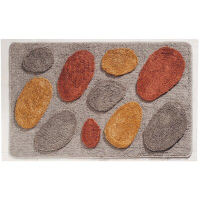 Pebblz Bath Rug Color: Brown