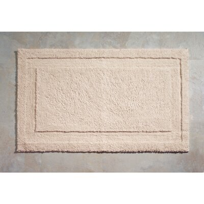 Spa Bath Rug Rug Size: 34 x 21 , Color: Natural