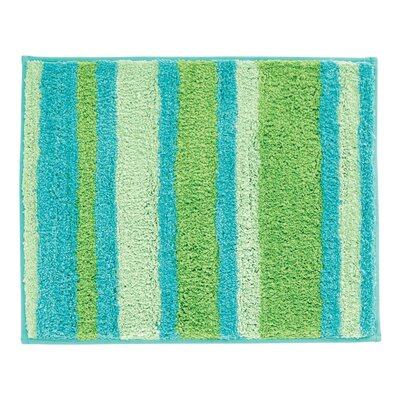 Stripz Bath Rug Color: Blue/Green