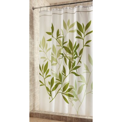 Shower Curtain Color: Green, Size: 74 H x 54 W