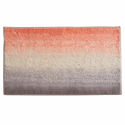 Ombre Bath Rug Color: Coral